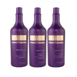 INOAR GHair Perfect Blond kit lissage brésilien 3x1 litre