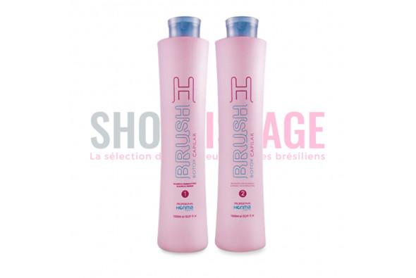 HONMA Tokyo H-BRUSH Lissage brésilien kit 2x1 L