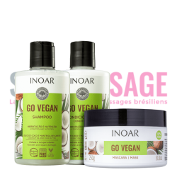 INOAR GO VEGAN nutrition Duo 2X300ml et masque