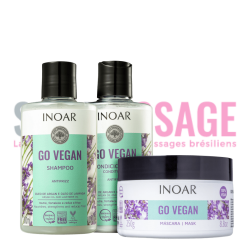 INOAR GO VEGAN Anti-frizz Duo 2X300ml + Masque 250gr