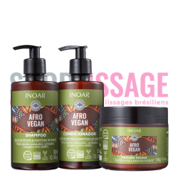 INOAR AFRO VEGAN Duo 2X300ml et masque