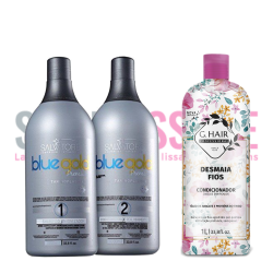Lissage Tanin Salvatore Blue Gold Premium + 1 L conditionner